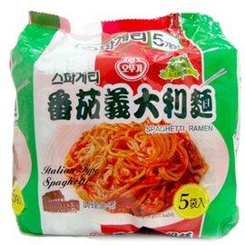 ~易購樂~店長強力 ^~韓國不倒翁OTTOGI 蕃茄起司義大利麵 5入^(包^) ^~ 通