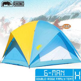 [RHINO 犀牛]六人蝶式雙橫樑通風帳.露營用品.蒙古包.帳篷 P102-A065