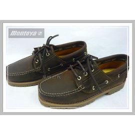 美迪-Montoya品牌(83056-18)- 帆船鞋 /雷根鞋~磨面棕 -女生款