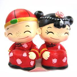 【花現幸福】☆歡喜結親家公仔一對50元☆中國婚禮公仔  婚禮小物