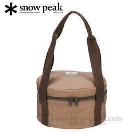 【日本 Snow Peak】Japanese Oven carrying case S 荷蘭鍋攜行袋 24cm for CS-510.鑄鐵鍋具袋.收納袋/CS-430BR