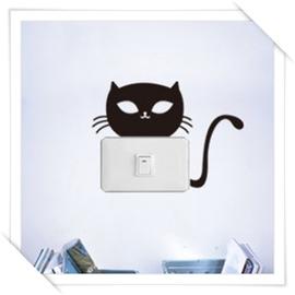Polly  壁貼 _開關 筆電系列~名媛貓咪~~2款各1入~   美學 居家佈置 自創品