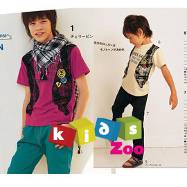 ~Kids zoo~假背心式短袖上衣_共2色^(80~120^)