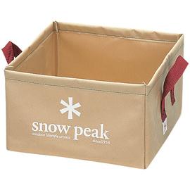 日本 Snow Peak 月光軟式方型水桶-14L (Pack Bucket)置物袋 飲水桶.補給水袋.冰桶.戶外露營釣魚野炊 FP-151