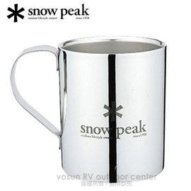 【日本 Snow Peak】SP不鏽鋼雙層杯 -330cc(Snow Peak Logo Double Wall Cup 330)隔熱馬克杯.鋼杯.隨身杯.戶外登山露營/MG-113R