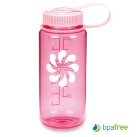 【美國 NALGENE】 BPA-free 500cc 彩色寬口運動水壺.休閒壼.隨身瓶.水瓶/新材質Tritan copolyester/ 2178-1216 粉紅