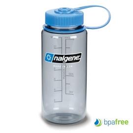 【美國 NALGENE】BPA-free 500cc 彩色寬口運動水壺.休閒壼.隨身瓶.水瓶/新材質Tritan copolyester/ 2178-9016 煙霧灰