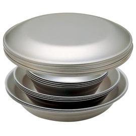 日本 Snow Peak SP 輕量 不鏽鋼餐盤組-4人四件組(Tableware Set L Family)鋼盤.鋼碗.餐具組.碗盤組.戶外野炊露營鍋具 TW-021F