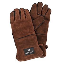 日本 Snow Peak 高級耐熱皮手套(Fire side gloves(Renuwal)) 焚火台/荷蘭鍋手部防護套.隔熱手套.居家戶外露營野炊 UG-023BR