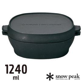 【日本 Snow Peak】Micro Oval 燕三條 極薄輕量扁圓型迷你荷蘭鍋.鑄鐵鍋.鑄鐵鍋具/CS-503 (缺貨中)