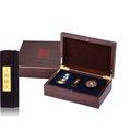黃金 金飾彌月印章禮盒-天賜麟兒黑檀木