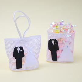 【花現幸福】☆禮服DIY喜糖袋10元☆婚禮小物 小熊 喜糖  紗袋