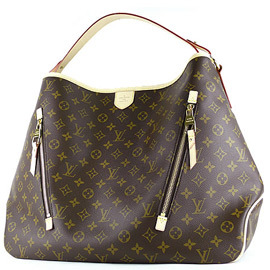 Louis Vuitton LV M40354 Delightful GM 花紋雙拉鍊肩背
