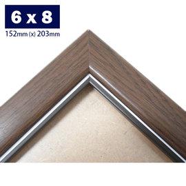 6 x 8 吋相框 獎狀框 證書框20.32cm x 15.24cm  原木條  一個入~