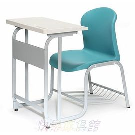 AC-0075 《快樂傢俱館》單人連結式課桌椅組/公私立補教課桌椅/兒童閱讀書桌椅