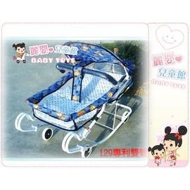 麗嬰兒童玩具館~加寬多功能雙管彈力搖床(碎花棉布).~適用大baby--特價