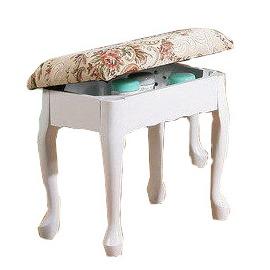 ~布拉格歐風傢俱~ 歐風掀蓋式化妝椅~白色   收納椅 製 維多麗雅 化妝椅 白色美學 單