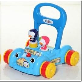 PUKU助步車(藍)(P30207)-贈:黃色小鴨隨手包濕紙巾*1包
