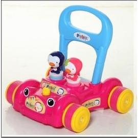 PUKU 助步車(粉)(P30207)-贈:黃色小鴨隨手包濕紙巾*1包