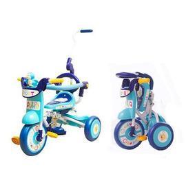 PUKU折疊式豪華三輪車(P30201)-(藍),贈:黃色小鴨隨手包濕紙巾*1包