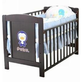 PUKU 古典嬰兒床+小藍七件式寢具組