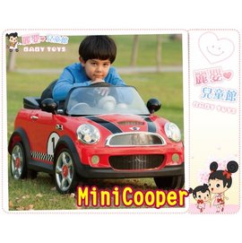 麗嬰兒童玩具館~BMW正版授權迷你MiniCooper仿真電動車.搖控高質內裝