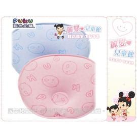 麗嬰兒童玩具館~PUKU藍色企鵝33125-彎月型棉織透氣塑型乳膠枕