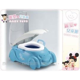 麗嬰兒童玩具館~嬰兒學習二用座椅訓練便器-親親系列Q版小汽車馬桶-有輔助把手