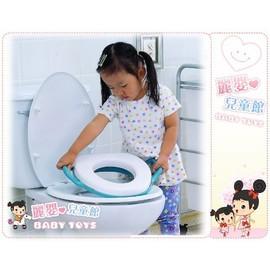 麗嬰兒童玩具館~baby成長-幼兒專用-家用馬桶輔助便便訓練器-雙把手好握拿
