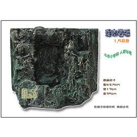 ~魚舖子~超逼真^^^^ 立體瀑布岩板1.5尺^(長43x高35cm^) ∼ 賣