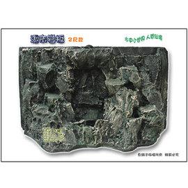 ~魚舖子~超逼真^^^^ 立體瀑布岩板2尺款^(長58x高35cm^) ∼ 賣