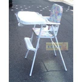 麗嬰兒童玩具館~台灣製-基本款高腳餐椅.折合餐椅.拆盤鐵製兒童餐椅-超值款