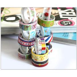 【Q禮品】韓版小型彩色卡通膠帶(1組10入),包裝與裝飾的可愛實用小物