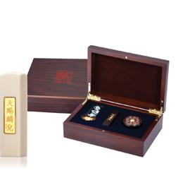 黃金 金飾彌月印章禮盒-天賜麟兒珍珠牙