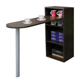 【KIC】桌面75公分(高)120公分(長)[2+2格](蛋頭形)桌櫃型-餐桌-W403DW+TB037RH深胡桃木色