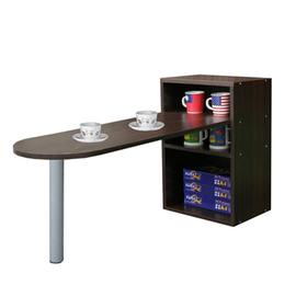 【KIC】桌面50公分(高)120公分(長)[1+2格](蛋頭形)桌櫃型-餐桌-W402DW+TB037RL矮腳深胡桃木色