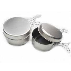 【日本 EPI.EPIgas】超輕量超值 BP MUG 鈦合金炊具組-II /雙人鈦鍋組-二鍋二蓋.碗.平底煎盤.餐具 T-8008