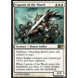 【冰河森林】 MTG 魔法風雲會 M10核心No. 006 Captain of the Watch 守望隊長 R卡(金卡稀有白生物)