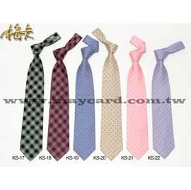 學院風菱格紋織花領帶