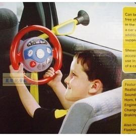 麗嬰兒童玩具館~帥氣哥哥的最最最愛..車內專用.我的隨車方向盤.有音效的呦