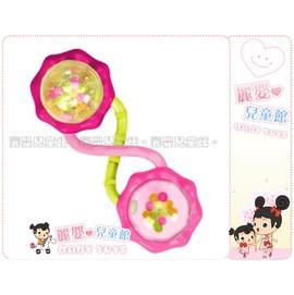 麗嬰兒童玩具館~美國kids II-Bright Starts專櫃-槓鈴雙圓手搖鈴固齒器(公司貨)