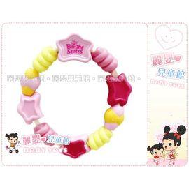 麗嬰兒童玩具館~美國kids II-Bright Starts嬰幼專櫃-粉紅陽光串珠固齒器(公司貨)