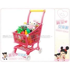 麗嬰兒童玩具館~扮家家酒.三麗鷗正版-和kitty一同去超市購物囉.水果購物推車