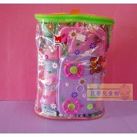 麗嬰兒童玩具館~小女生扮家家酒必備-超齊全廚房爐具揹袋(大)-54pcs