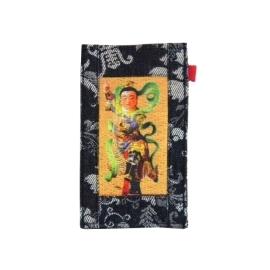 【CHINNEX】手工製作 ◎ 丹寧布刺繡手機吊袋 ◎ 可裝一般手機、眼鏡、各式卡片~~【§ 三太子 §】