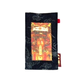 【CHINNEX】手工製作 ◎ 丹寧布刺繡手機吊袋 ◎ 可裝一般手機、眼鏡、各式卡片~~【§ 天上聖母 §】