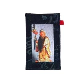 【CHINNEX】手工製作 ◎ 丹寧布刺繡手機吊袋 ◎ 可裝一般手機、眼鏡、各式卡片~~【§ 月下老人 §】