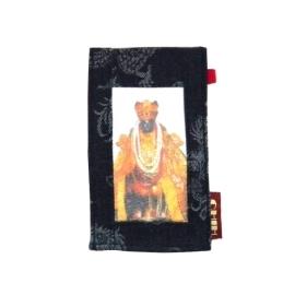 【CHINNEX】手工製作 ◎ 丹寧布刺繡手機吊袋 ◎ 可裝一般手機、眼鏡、各式卡片~~【§§ 觀音菩薩 §§ 】