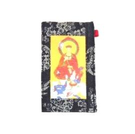 【CHINNEX】手工製作 ◎ 丹寧布刺繡手機吊袋 ◎ 可裝一般手機、眼鏡、各式卡片~~【§地藏王菩薩§】