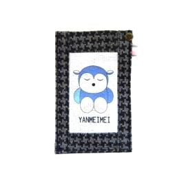【CHINNEX】手工製作 ◎ 丹寧布刺繡手機吊袋 ◎ 可裝一般手機、眼鏡、各式卡片~~【可愛@羊妹妹】